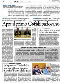 Cofidi sbarca a Padova in supporto alle PMI